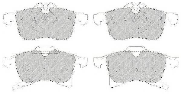 Тормозные колодки Тормозные колодки дисковые PAGID арт. FDB1640