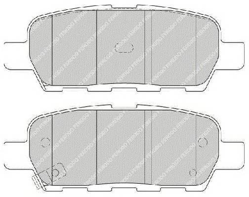 Гальмівні колодки, дискові PAGID арт. FDB1693