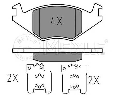 Тормозные колодки Тормозные колодки дисковые MEYLE арт. 0252088917