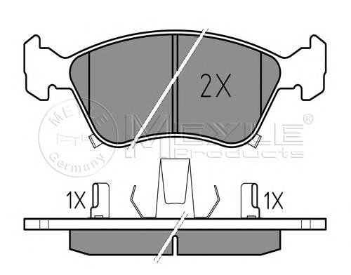 Тормозные колодки Тормозные колодки дисковые PAGID арт. 0252197617W