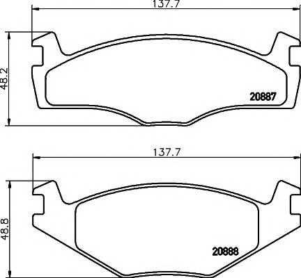 Тормозные колодки 20887/17,3мм Тормозные колодки PAGID PAGID арт. T0388