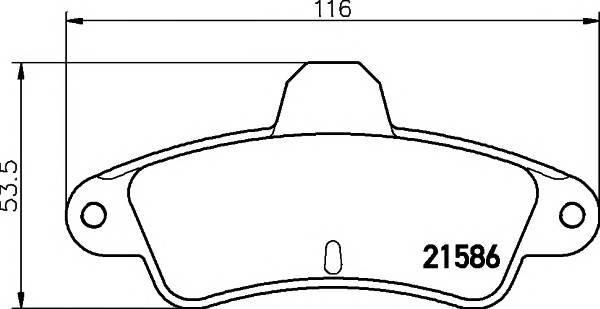 Тормозные колодки 21586/15,0мм Тормозные колодки PAGID PAGID арт. T9027