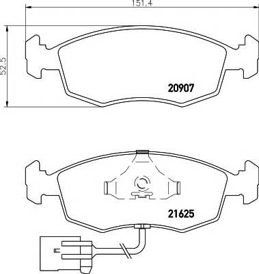Тормозные колодки 21625/18,0мм Тормозные колодки PAGID PAGID арт. T1080