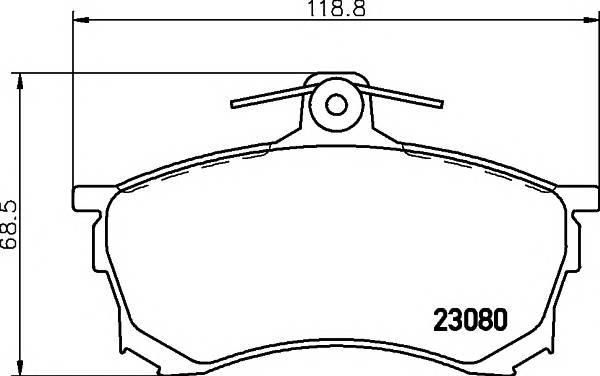 Тормозные колодки 23080/15,8мм Тормозные колодки PAGID PAGID арт. T3039