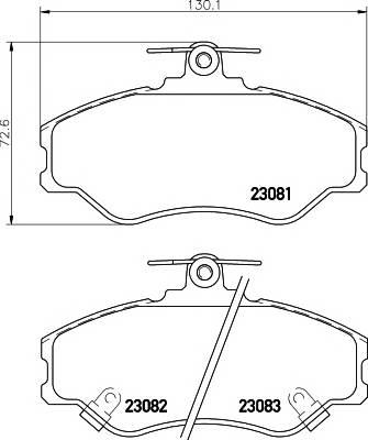 Тормозные колодки 23083/19,0мм Тормозные колодки PAGID PAGID арт. T3036