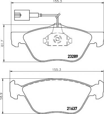 Тормозные колодки 21636/19,0мм Тормозные колодки PAGID PAGID арт. T1099
