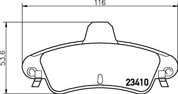 Тормозные колодки 23410/15,7мм Тормозные колодки PAGID PAGID арт. T1248