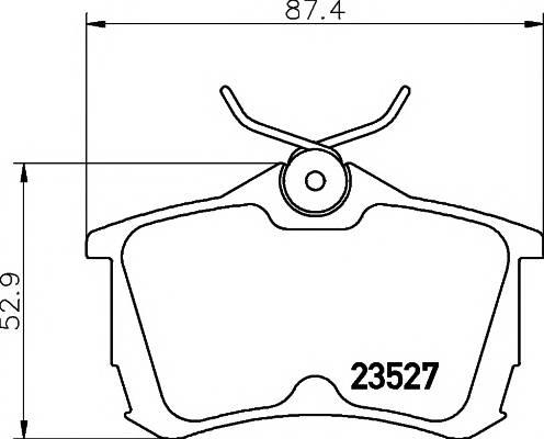 Тормозные колодки 23527/15,0мм Тормозные колодки PAGID PAGID арт. T1255