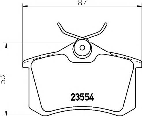 Тормозные колодки 20961/15,2мм Тормозные колодки PAGID PAGID арт. T5022