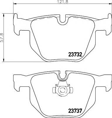 Тормозные колодки 23732/17,3мм Тормозные колодки PAGID PAGID арт. T1366