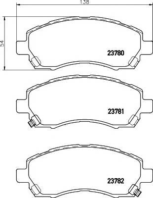 Тормозные колодки 23780/17,0мм Тормозные колодки PAGID PAGID арт. T1320