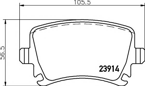 Тормозные колодки 23914/17,2мм Тормозные колодки PAGID PAGID арт. T1377