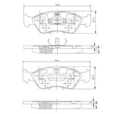 Тормозная система Гальмiвнi колодки, к-кт. PAGID арт. J3600900