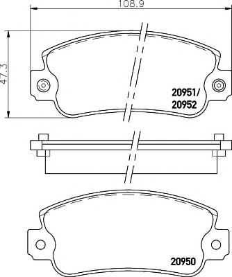 Тормозные колодки Тормозные колодки дисковые ABE арт. 2095006