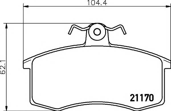 Тормозные колодки Тормозные колодки дисковые TEXTAR арт. 2117002