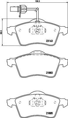 Тормозные колодки Тормозные колодки дисковые TEXTAR PAGID арт. 2188501