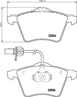 Тормозные колодки Тормозные колодки дисковые PAGID арт. 2303401