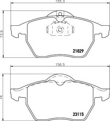 Тормозные колодки Тормозные колодки дисковые TEXTAR PAGID арт. 2311502