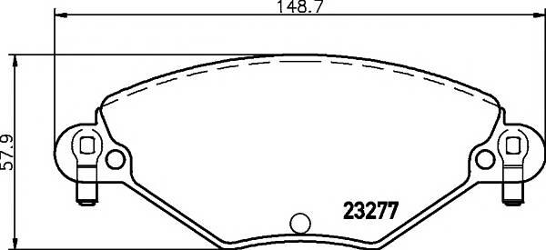 Тормозные колодки Тормозные колодки дисковые TEXTAR ABE арт. 2327701