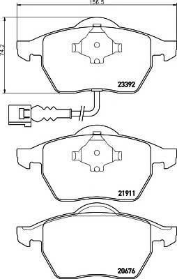 Тормозные колодки Тормозные колодки дисковые TEXTAR ABE арт. 2339201