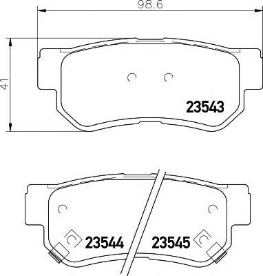 Тормозные колодки Тормозные колодки дисковые TEXTAR PAGID арт. 2354301