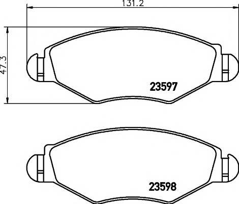 Тормозные колодки Тормозные колодки дисковые TEXTAR ABE арт. 2359703