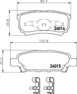 Тормозные колодки Тормозные колодки дисковые TEXTAR PAGID арт. 2401401