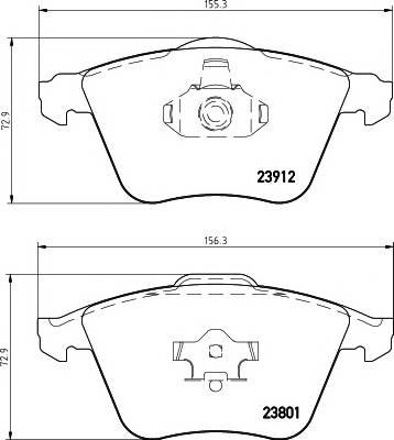 Тормозные колодки Тормозные колодки дисковые TEXTAR ABE арт. 2391201