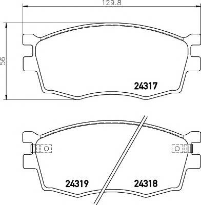 Тормозные колодки Тормозные колодки дисковые TEXTAR PAGID арт. 2431701