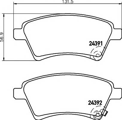 Тормозные колодки Тормозные колодки дисковые TEXTAR ABE арт. 2439101