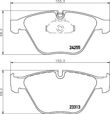 Тормозные колодки Тормозные колодки дисковые TEXTAR ABE арт. 2331301