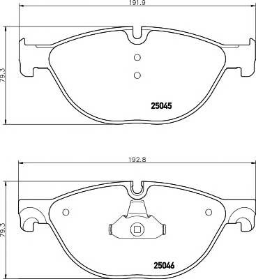 Тормозная система Гальмiвнi колодки, к-кт. ABE арт. 2504501