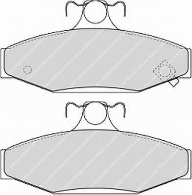 Тормозные колодки Тормозные колодки Ferodo PAGID арт. FDB1157