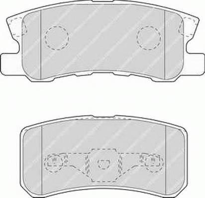 Тормозные колодки Тормозные колодки дисковые PAGID арт. FDB1604