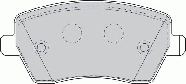 Тормозные колодки Тормозные колодки дисковые PAGID арт. FDB1617
