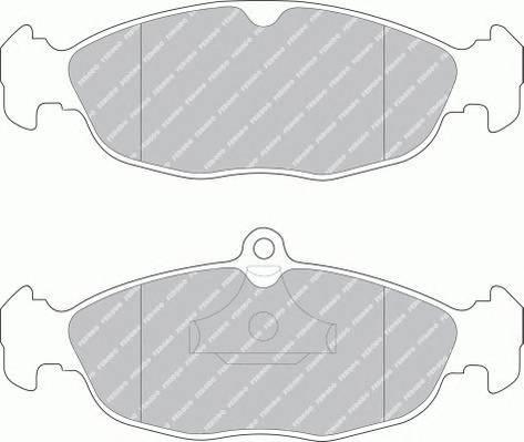 Тормозные колодки Тормозные колодки передние Lanos Ferodo PAGID арт. FDB732