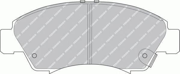 Гальмівні колодки, дискові PAGID арт. FDB777