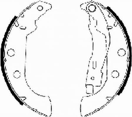 Тормозные колодки Тормозные колодки барабанные ABE арт. FSB575