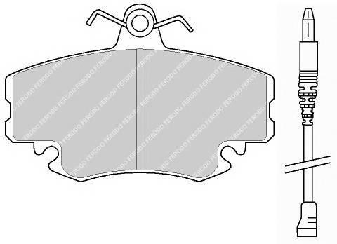 Тормозные колодки Тормозные колодки Ferodo ABE арт. FSL845