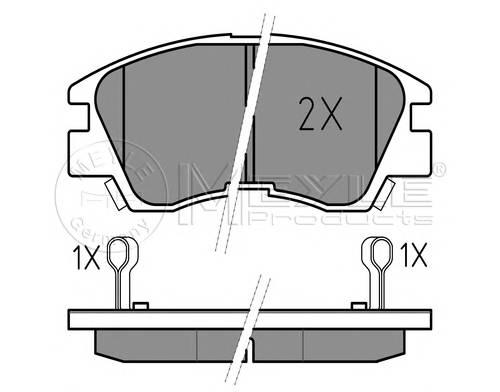 Тормозные колодки Тормозные колодки дисковые PAGID арт. 0252137316W