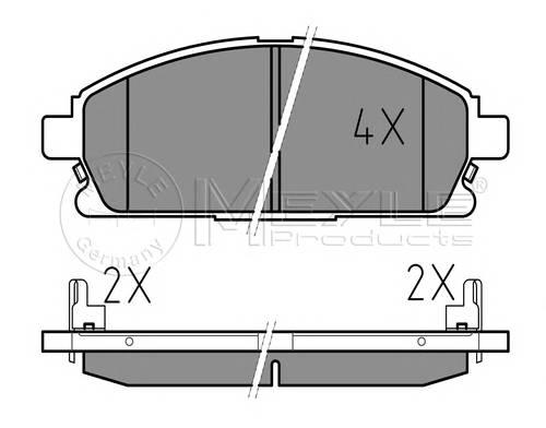 Тормозные колодки Тормозные колодки дисковые PAGID арт. 0252342016W