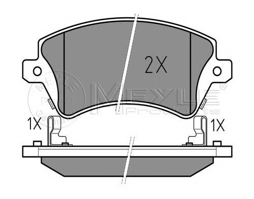 Тормозные колодки Тормозные колодки дисковые PAGID арт. 0252376617W