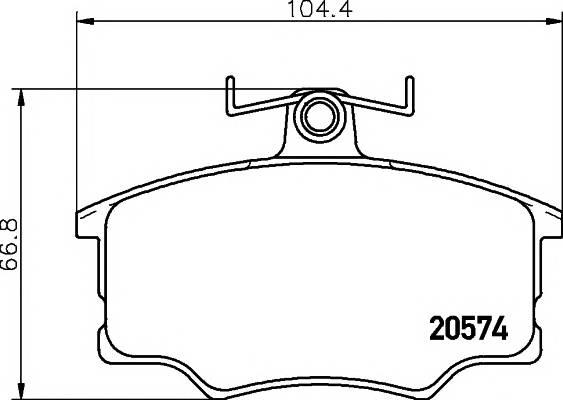 Тормозные колодки 20574/19,6мм Тормозные колодки PAGID PAGID арт. T0291
