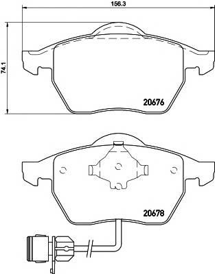 Тормозные колодки 20676/19,8мм Тормозные колодки PAGID PAGID арт. T1035