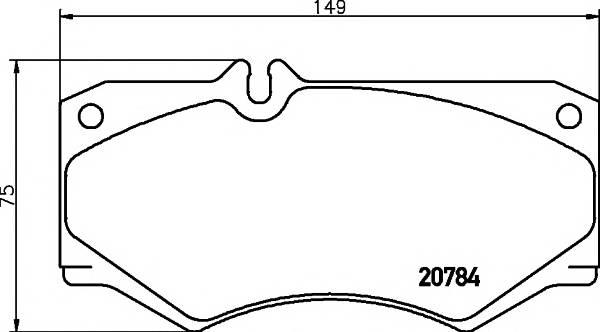 Тормозные колодки 29784/18,0мм Тормозные колодки PAGID PAGID арт. T0311