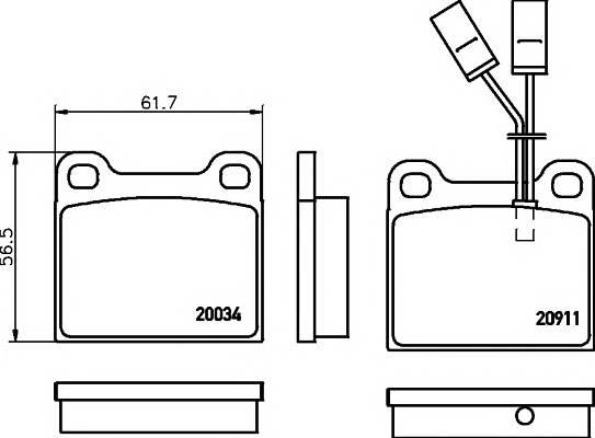 Тормозные колодки 20911/15,0мм Тормозные колодки PAGID PAGID арт. T4157