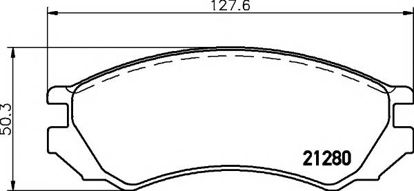 Тормозные колодки 21280/15,9мм Тормозные колодки PAGID ABE арт. T0394
