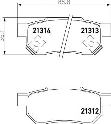 Тормозные колодки 21313/13,0мм Тормозные колодки PAGID PAGID арт. T0034