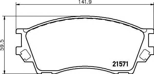 Тормозные колодки 21571/17,1мм Тормозные колодки PAGID ABE арт. T3100