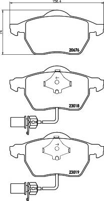 Тормозные колодки 23018/20,3мм Тормозные колодки PAGID PAGID арт. T1388